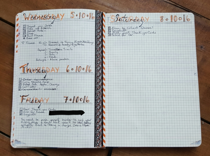 Agenzio Daily spread bullet journal