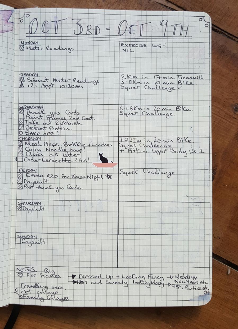 Agenzio Weekly spread bullet journal