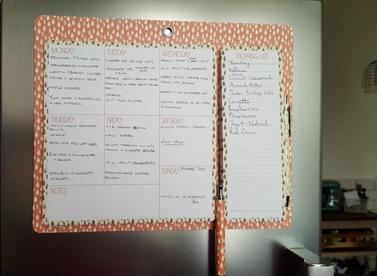 Paperchase weekly meal planner