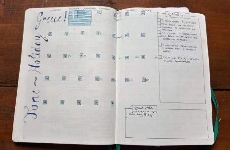 Leuchtturm1917 Bullet journal June Spread