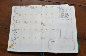 Leuchtturm1917 Bullet journal March Spread
